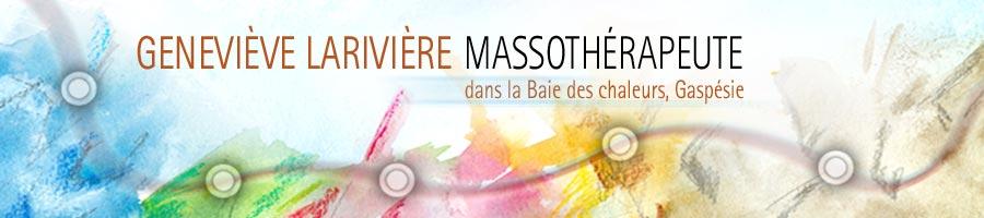 Geneviève Larivière massothérapeute gaspésie